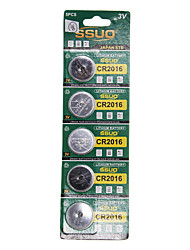 CR2016 3V Lithium Watch Battery 5PCS