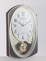 """17.75 """"H Современный стиль Мелодия Овальный настенные часы с маятником"""