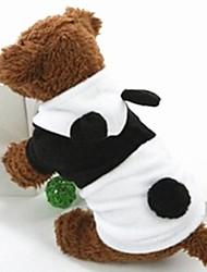 Cães Fantasias Camisola com Capuz Preto Branco Roupas para Cães Inverno Primavera/Outono Animal Fofo Fantasias