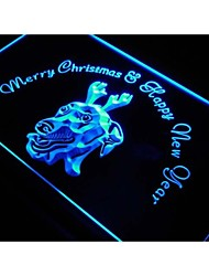 s164 Greyhound Dog Christmas New Year Neon Light Sign