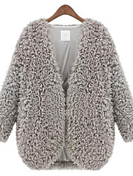 Z.Y.P Women's New Western Lamb Woolen Coat