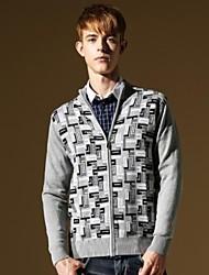 мужчин новый приходит Slim Fit мода Корее стильные вскользь вязать свитер