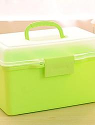 1 шт хранения пластика домашние, содержащий окно для пищевой медицины макияж