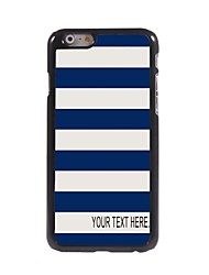 Personalized Case Stripe Design Metal Case for iPhone 6 Plus