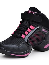 Chaussures de danse (Rouge/Or) - Non personnalisable - Talon bas - Synthetic - Sneakers de dance
