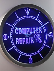nc0267 Computer Repair Services Gift Neon Sign LED Wall Clock