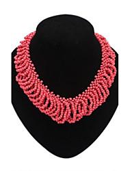 boheme mini-perles de femmes se regroupent noble bavoir collier déclaration