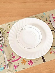 Flower Printing Heat Insulation Eat Mat for Cup or Plate  43cm x 28cm