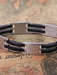 moda personalidade generosa de titânio pulseiras de aço dos homens