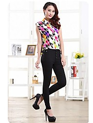 Women's Cultivate One's Morality Show Thin Elastic Foot Trousers