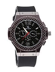 V6 ORKIAN SHAOPENG Hot Sell V6 Black Rubber Men Quartz Sport Waterpoof Wristwatch V60102