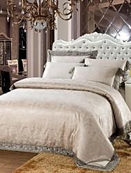 Xinxingmeng® Duvet Cover Sets Luxury 4 Piece Griege Novelty Jacquard Full Queen