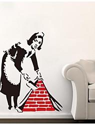 jiubai® Banksy Trauwandaufkleber Wandtattoo