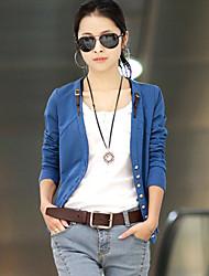 Women's Cool Button Slim Long Sleeve Jacket Outwear