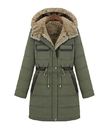 KYL Women's Slim Fit Thick Cotton Coat