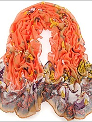 Orange Bali Yarn Scarf Cotton Cape Spring And Autumn Long Design Autumn And Winter Women's Scarf