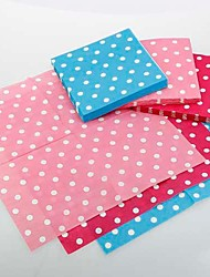 White Dots Pattern Napkins - Set of 20 (More Colors)