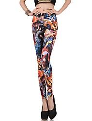Women's Fashion Heads Pattern Leggings