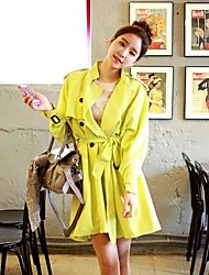 moda femminile scivolò caramella colore del mantello cintura midi