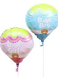 bebê balão fogo membrana de alumínio chá de bebê festa de aniversário balão