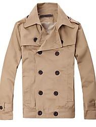 recortes estéreo estilo coreano corta chaqueta cruzada de los hombres