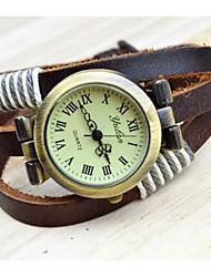 reloj de la pulsera de mimbre moda estilo antiguo de las mujeres