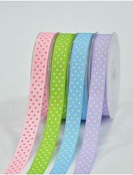 3/8 Inch Classic Heart-shaped Pattern Rib Ribbon Printing Ribbon- 25 Yards Per Roll (More Colors)