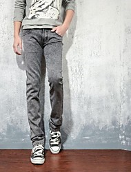 Men's 2014 New Fashion Low-rise Zipper Fly Combined Body Elastic Long Straight Jeans