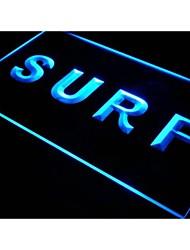 s005 accesorio de surf signo venta alquiler luz de neón