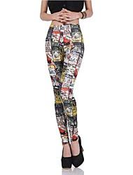 Women's Fashion Press Pattern Leggings