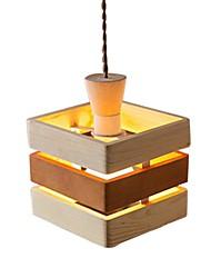 Luzes Pingente 220v madeira de carvalho simples moderno