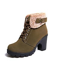 Women's Shoes Smandy Round Toe Chunky Heel  Ankle Boots  More Colors available