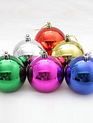 6 pcs Christmas Decorations Hanging Drop Balls Multicolor Random Collocation(Φ=6cm)