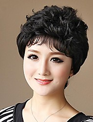 Short Wavy Capless 100% Human Hair Wigs