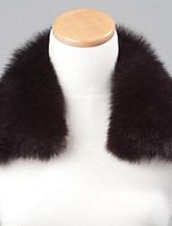 unisex trendigen dunkelviolett echte echte Fuchspelzkragen Schal-Verpackungs-