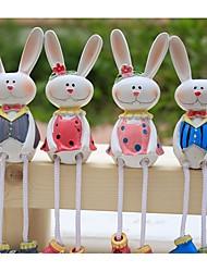 2pcs pastorales muñecos colgantes decorativos para regalos resina juguetes de los animales