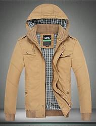 loisirs de mode printemps hiver paragraphe bouchon amovible hommes lavé veste
