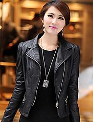 Women's Coats & Jackets , PU Bodycon/Casual Lady 7