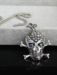 Men's Unique Design Zircon 18K Gold Plating Pendant  Necklace