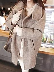 Women's Loose Cocoon Lapel Single Woolen Tweed Outerwear