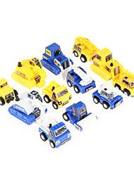 12pcs enfants vous amuser traction voiture jouet de construction de mini ingénieur