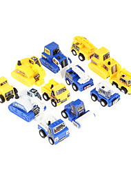 12PCS Kids Fun Mini Construction Engineer's Pull Back Car Toy
