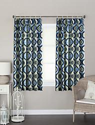 Um Painel Tratamento janela Designer , Pontos Polka Sala de Estar Poliéster Material Cortinas cortinas Decoração para casa For Janela