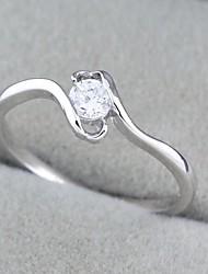 mode conception unique bague de zircon en or 18 carats des femmes