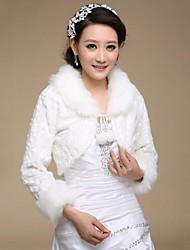 Wedding / Party/Evening Faux Fur Coats/Jackets Long Sleeve Fur Wraps