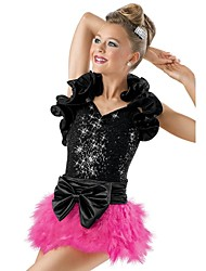 Jazz Dancewear Ruffle Shrug Sequin Leotard And Feather-Skirt Jazz/Modern Cheerleader Dance Costumes (More Colors) Kids Dance Costumes