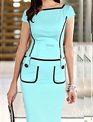 Dolce Women's Fitted Splicing Pencil Dress