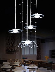 Crystal/LED Pendant Lights , Modern/Contemporary Living Room Metal