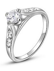 Classic Austria Crystal Four Zircon Alloy Statement Rings(1 Pc)