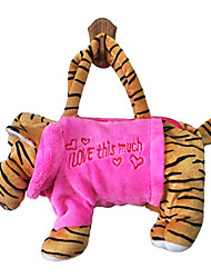 Tiger Design Plush Toys Soft Hand Bag